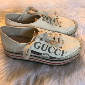 6db69ed7b605 Gucci Shoes - Gucci Convertible Logo Espadrille Size 36!